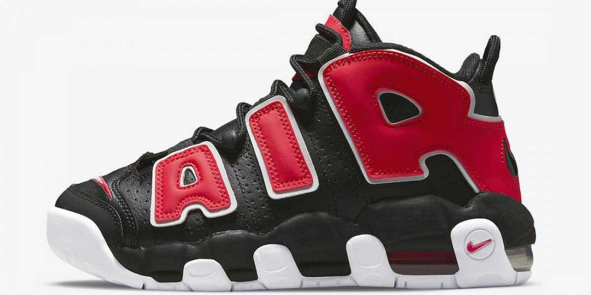 2021 New Nike Air More Uptempo GS DM3190-001 Very cool color!