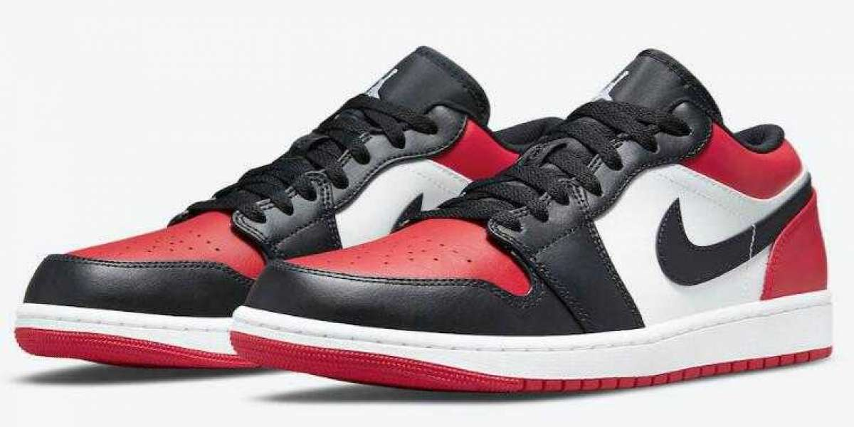 Where to Buy 553558-612 Air Jordan 1 Low Bred Toe Running Shoes