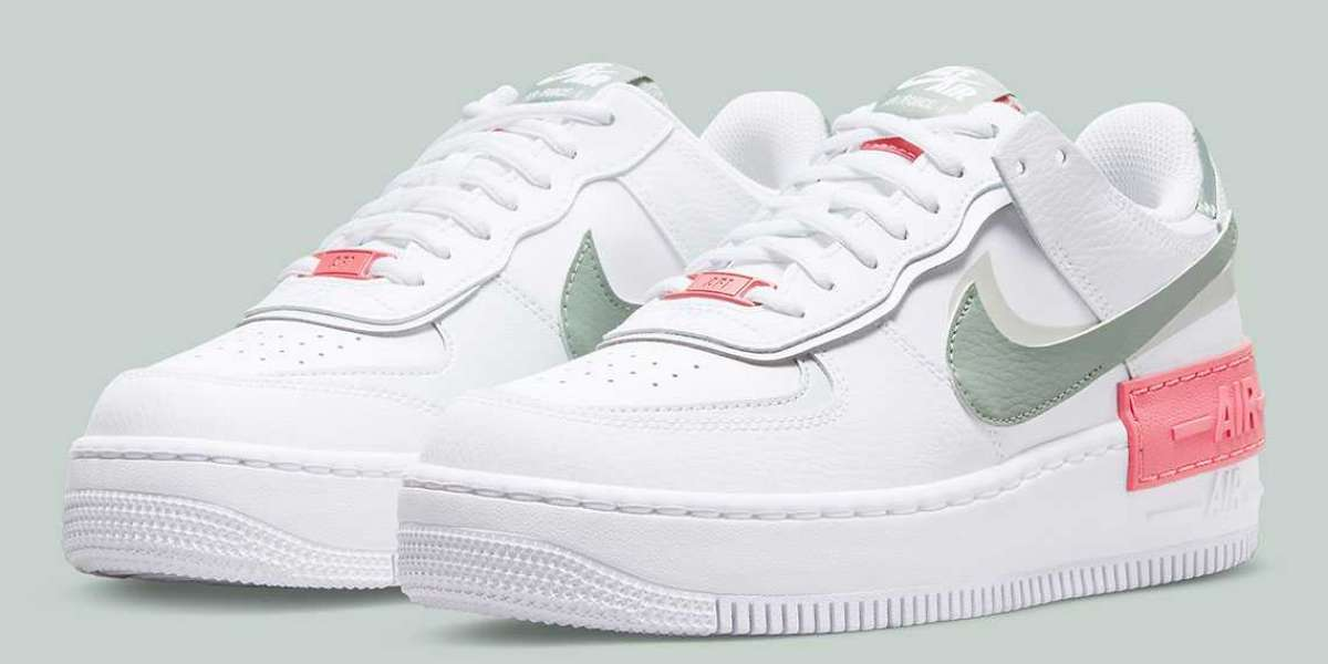 2021 Latest Nike Air Force 1 Shadow Pink Shoes CI0919-112