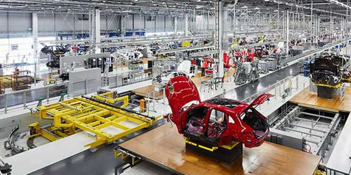 What are the main parts of the automated production line?