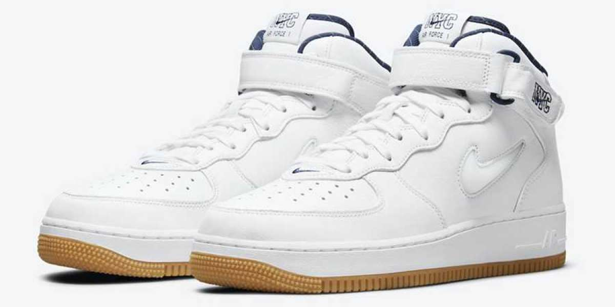 """Tribute to the New York Yankees! The new color Nike Air Force 1 Mid """"NYC"""" DH5622-100 is online!"""